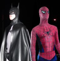 Batman And Spiderman Costumes by SkullcapComix