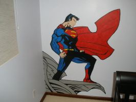 superman mural by Shroggy
