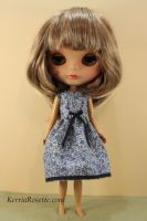 Little Blue Dress for Blythe by KerriaRosette