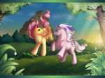 Comission : Fluttershy and Twilight by calie-coco