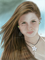 Portrait of Kristy-2  Summertime by MariColl
