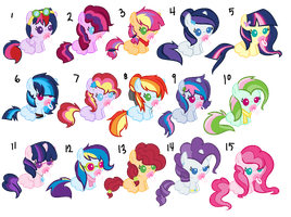 Mane 6 shipping foals batch #1 [CLOSED] by Icicle212