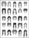 Women's Hair - Set 1 by dark-sheikah