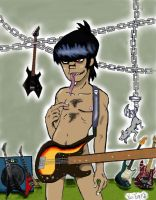 "Murdoc in Guitar room""colored"" by GhettoRainbowCat"