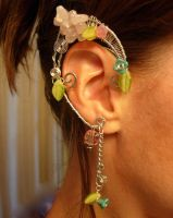 Garden Inspired Elf Ear Cuffs, Renaissance, Fairie by jhammerberg