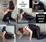 Comic Book Heroine Attack Pack by archetype-stock