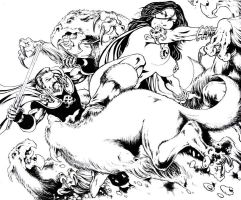 Margrave's Last Stand - pencils/inks - Ron Joseph by RONJOSEPH-ARTIST