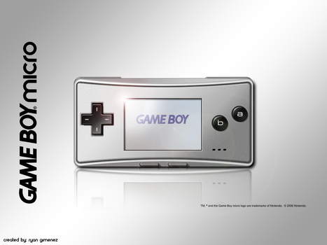 Gameboy Micro Wallpaper by TheCloudOfSmoke
