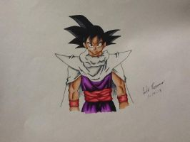Goku dressed as Piccolo ( testing copic markers ) by Draw4fun2