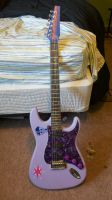 Twilight Sparkle Stratocaster by PigBenisXIII