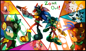 Zone Out cover - A zone cop manga by koda-soda