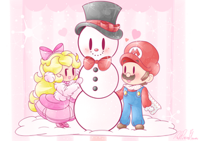.:A Snowman Made With Love:. by PinkPrincessBlossom