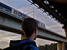 Lloyd: Bridge + Train by Seans-Photography