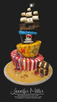 Pirate Cake by ArteDiAmore