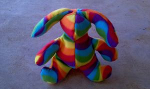 Pride Bunny Plush - Wavy Lines by RebelATS
