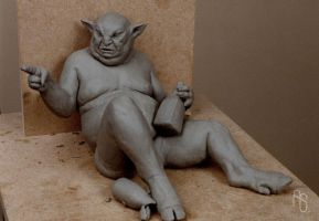 Drunk Gargoyle by aaronsimscompany
