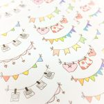 Bunting banner and garland stickers by FrozenNote