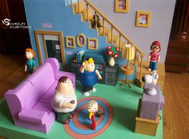 Family Guy custom diorama by ShaolinCustoms