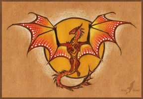 Sun dragon - tattoo design by AlviaAlcedo