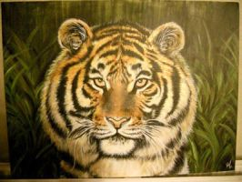 Siberian Tiger by RozThompsonArt