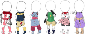 adoptable naruto female outfits: CLOSED by itasasu2002