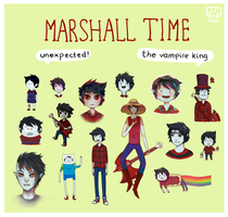 Adventure Time: Marshall Lee different styles by Dorinootje