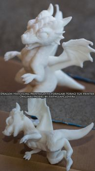Dragon Hatchling - New 3D Resin Printer by The-SixthLeafClover