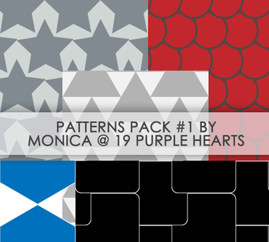 Patterns Pack 1 by 19 Purple Hearts by mon1chka