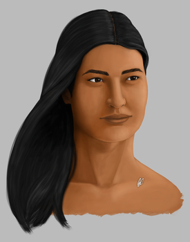 Native American Woman by GCnotPD