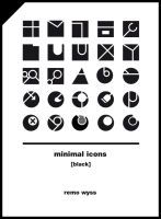 [icon set] Minimal Icon Collection [black] by Primofenax