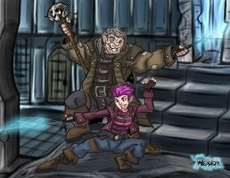 Tonks and Mad Eye Moody by Odd-Voodoo