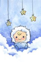 Baby with Stars by KelliRoos
