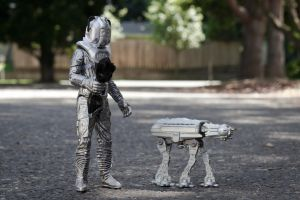 TOYS 012 Cyberman and At-At by Dxyner