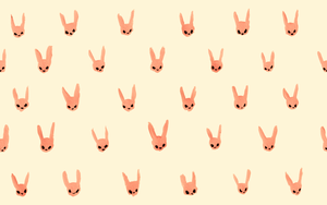 Little Rabbits Lined Up Cream Wallpaper by beyourpet