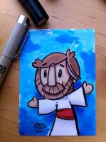 Jesus in markers by pocza
