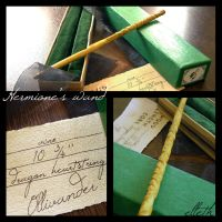 Hermione's wand by ellethEsteri