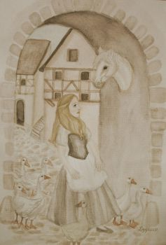The Goose Girl sepia by Lygrace