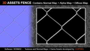 Games-assets Fence2 by bionicBots