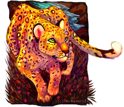 The rose leopard by DancingfoxesLF
