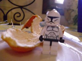 Clone Trooper on Dirty Dishes by wintercool612