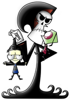 Grim Adventures of Zim and Dib by vegitapion