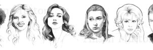 Sketch Portraits 1 by Alene