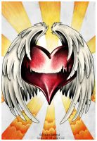 Winged Heart Maddness by hatefueled