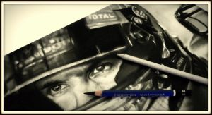 Sebastian Vettel sketch in progress by realisticartsachin
