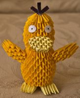 3D Origami Psyduck by pokegami