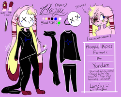 -Plague Ref 2017(Second main fursona)- by bu-tterswiiet