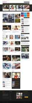 Video Sharing Website Free PSD Template by sadykov