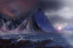 Stormy mountains by ludomira