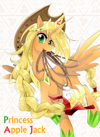 Princess Apple Jack! by yuki-zakuro