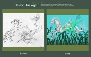 Draw this Again: Mermaid and Hippocampus by evolra